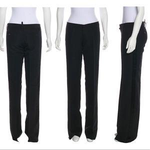 DSQUARED2 Black Flare Pants Size 4 IT 40 New